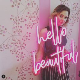 Hello Beautiful Led Neon Sign Wall Art For Beauty Salons