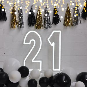 Neon Light for 21st Birthday Party / Anniversary - photo CustomNeon.com