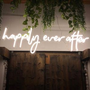 Happily Ever After Neon Sign wedding decor - photo from CustomNeon.co.uk