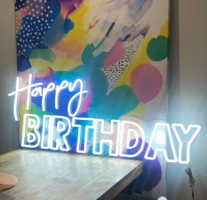 Happy Birthday LED Neon Party Sign