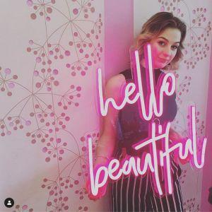 Hello Beautiful LED Neon Sign On Trend Neon Wall Art - photo CustomNeon.co.uk