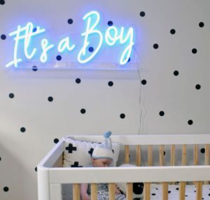 * It's a Boy * Blue Neon Sign for Baby Shower or Baby Boy Room Decor