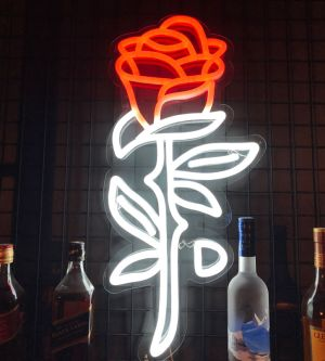 LED Rose Neon Sign Wall Art