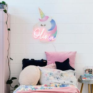 Unicorn LED Neon Name Sign for Kids Room from CustomNeon.co.uk